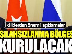 Erdoğan ve Putin Basın Toplantısı düzenledi