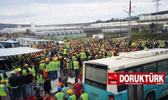 3. Havalimanında işçiler eylemde! İş şartları çok kötü