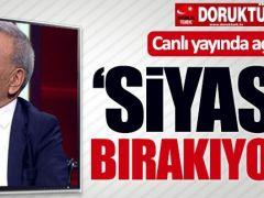 """Kocaoğlu canlı yayında açıkladı: """"Bırakıyorum"""""""