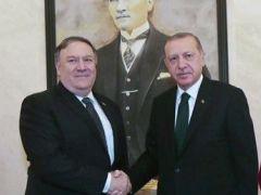 Cumhurbaşkanı Erdoğan, Pompeo ile 40 dakika görüştü!