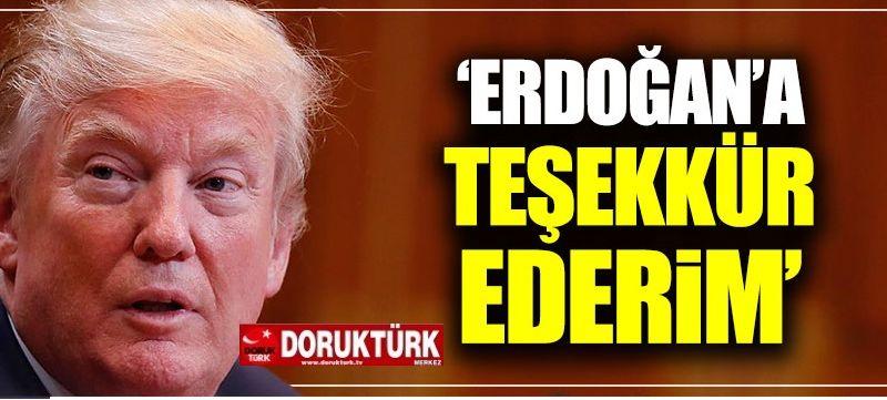 Trump'tan Erdoğan'a 'Brunson' teşekkürü  geldi