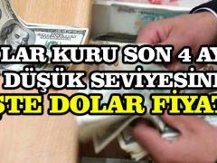 Dolar kuru son 4 ayın en düşük seviyesinde! İşte dolar fiyatı