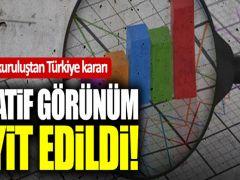 JCR, Türkiye'nin kredi notununun negatif görünümünü teyit etti
