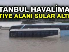 İstanbul Havalimanı şantiye alanı sular altında