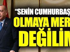 """Cumhurbaşkanı Erdoğan: """"Senin cumhurbaşkanın olmaya meraklı değilim"""""""