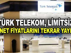 Türk Telekom, limitsiz internet fiyatlarını tekrar yayınladı