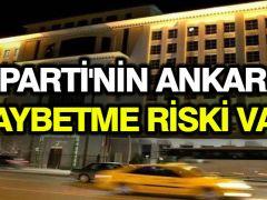 AK Parti'nin seçim anketine göre Ankara'nın kaybedilme riski var
