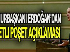 Cumhurbaşkanı Erdoğan'dan ücretli poşet açıklaması