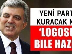 Abdullah Gül yeni parti mi kuruyor? 'Logosu bile hazır'
