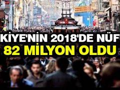 Türkiye'nin 2018'de nüfusu 82 milyon oldu