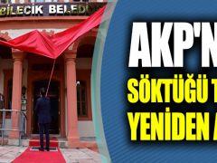AK Parti'nin söktüğü T.C.'yi belediye binasına yeniden astı