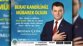 Kapaklı Belediye Başkanı Çetin'den Berat Kandili Mesajı