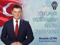 Başkan Çetin , Polis Haftasını Kutladı