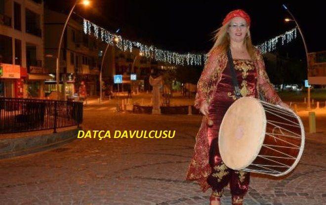 Kadın Davulcunun manileriyle Datça Sahura Kalkıyor