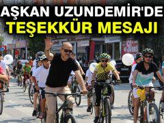 Başkan Uzundemir'den Teşekkür Mesajı