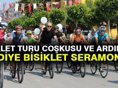 Bisiklet Turu Coşkusu ve Ardından Hediye Bisiklet Seramonisi