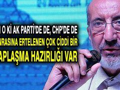 Dilipak: Görünen o ki AK Parti'de de, CHP'de de seçim sonrasına ertelenen çok ciddi bir iç hesaplaşma hazırlığı var