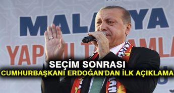 Seçim sonrası Cumhurbaşkanı Erdoğan'dan ilk açıklama