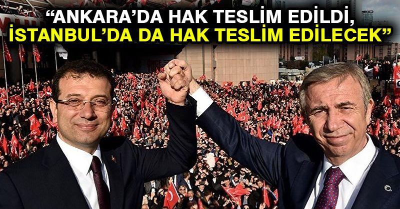 Yavaş: Ankara'da hak teslim edildi, İstanbul'da da hak teslim edilecek
