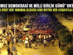 """""""15 Temmuz Demokrasi ve Milli Birlik Günü"""" Ortaca'da, Ülkemizin dört bir yanında olduğu gibi büyük bir coşkuyla kutlandı."""