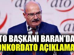 ATO Başkanı Baran'dan konkordato açıklaması