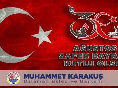 Muhammet Karakuş'tan 30 Agustos Mesajı