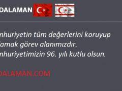 TCDALAMAN.COM; Cumhuriyetimizin 96. Yılı Kutlu Olsun!