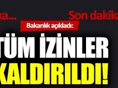 """Mevlüt Çavuşoğlu'ndan koronavirüs açıklaması: """"Tüm izinleri kaldırdık"""""""