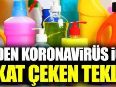 CHP'den temizlik ürünleri için koronavirüs teklifi